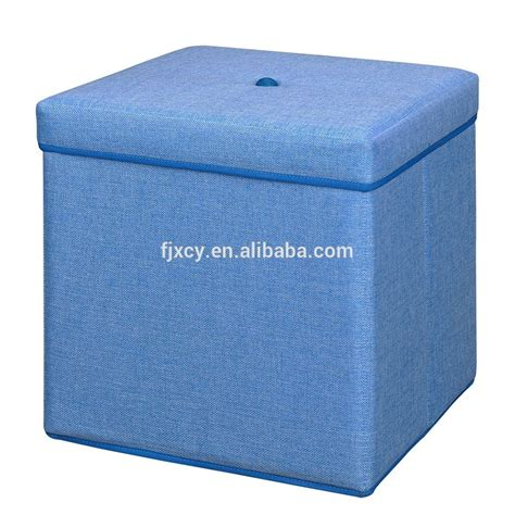 fabric foldable storage ottoman stool cube buy folding