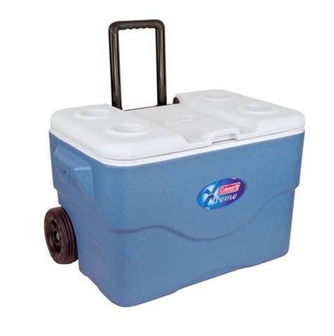 coleman badewanne coleman k 252 hlbox 50qt mit 2 r 228 dern blau wei 223