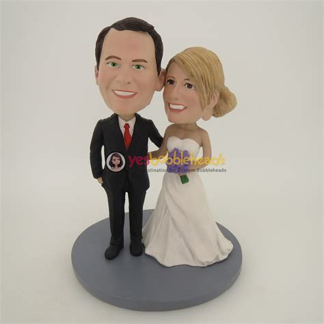 bobblehead cake topper personalized wedding cake toppers bobbleheads mini bridal