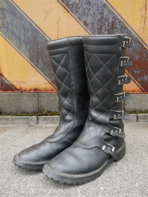 italian motocross boots alpinestars vintage motocross boots made in italy
