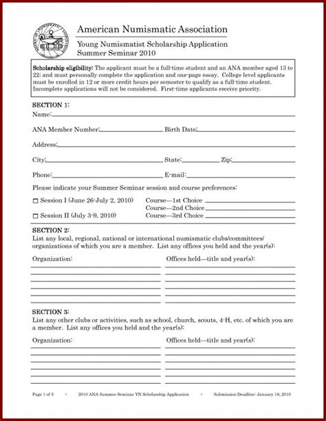 Scholarship Application Template Template Business Scholarship Application Template