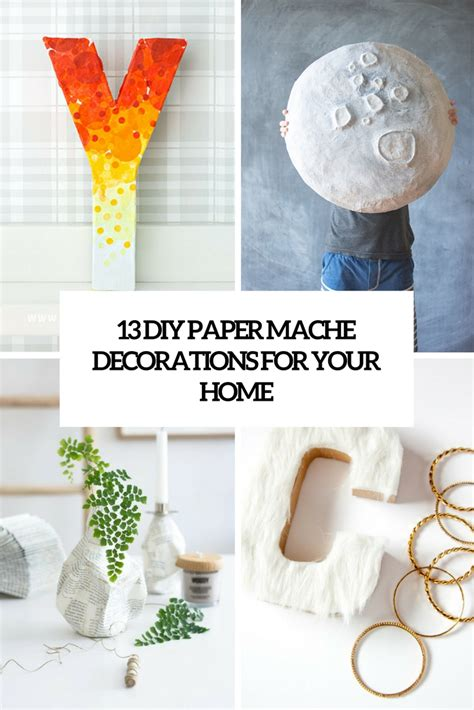 diy decorations cardboard diy paper mache decorations do it your self