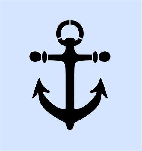 template anchor anchor stencil nautical stencils template templates craft