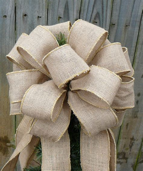 burlap tree topper christmas tree topper burlap tree