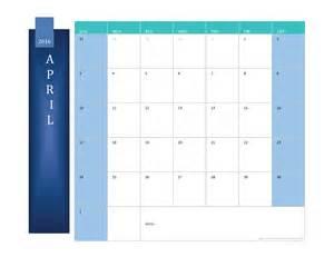 2016 Monthly Calendar Template by April 2016 Calendar Printable Monthly Calendar Excel Pdf