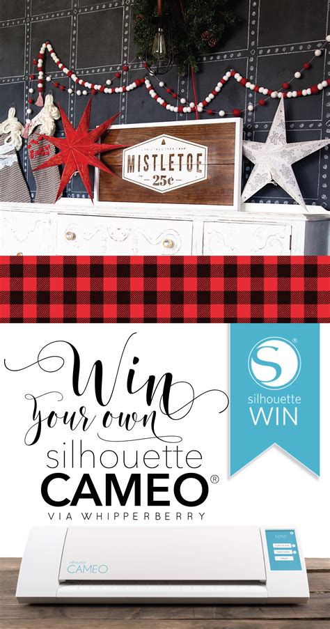 Silhouette Giveaway - mistletoe christmas sign silhouette cameo giveaway whipperberry