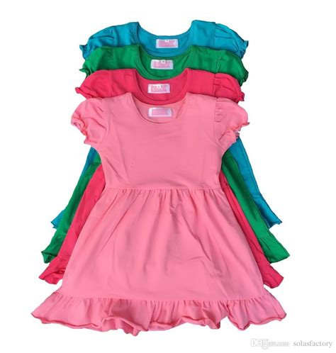 Limited Baby Dress 2017 2016 time limited 130cm7 8t 100cm2 3t wholesale baby dress ruffle bottom cotton frock