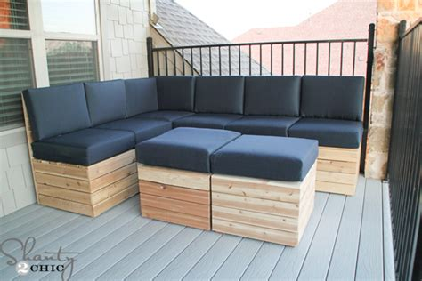 how to build outdoor couch diy modular outdoor seating shanty 2 chic