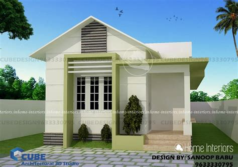 kerala home design 700 sq ft 700 square feet single floor contemporary home design