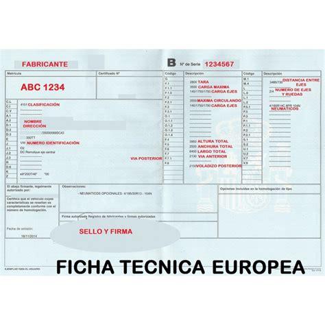 Imagenes Figurativas Con Ficha Tecnica | ficha t 201 cnica europea remolques tarragona remolques