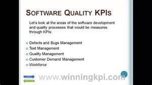 quality assurance metrics template software quality kpis exle
