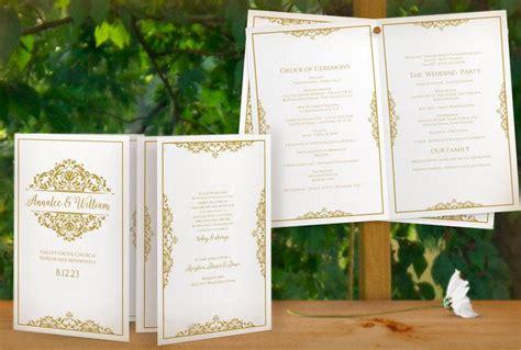 sale diy printable wedding program template instant