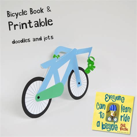 Papercraft Bike - learning to ride book and craft doodles and jots