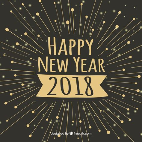 new year 2018 vector happy new year 2018 minimalistic background vector free