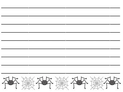 Writing Paper Spider Elementary Abcteach Spider Writing Paper Writersgroup749 Web Fc2 Com