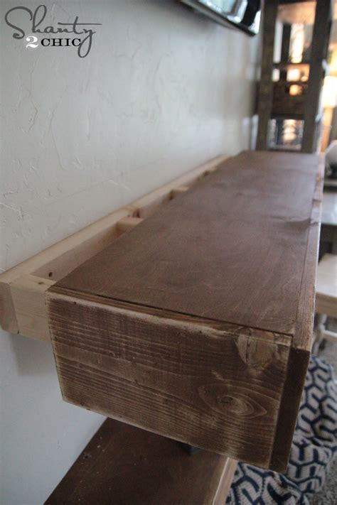 how to build floating shelves diy media shelves shanty 2 chic
