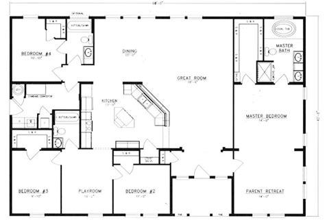 metal barn house floor plans metal 40x60 homes floor plans floor plans i d get rid of the 4th bedroom and make that a