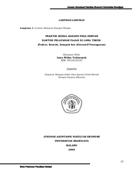 format penulisan skripsi fia ub pedomanskripsijurakuntansi