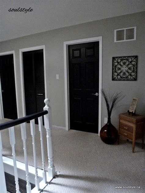Black Interior Doors With White Trim Black Interior Doors Soulstyle Interiors And Design
