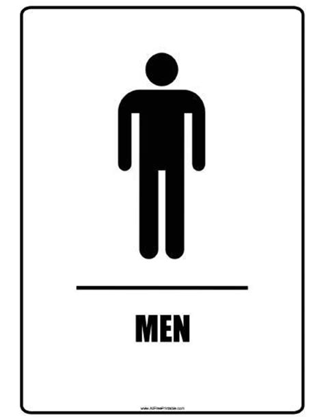 man and woman bathroom sign restroom signs printable clipart best