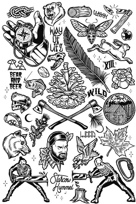 Tatouage Flash Tattoo Boutique Black And White Flash Tattoos