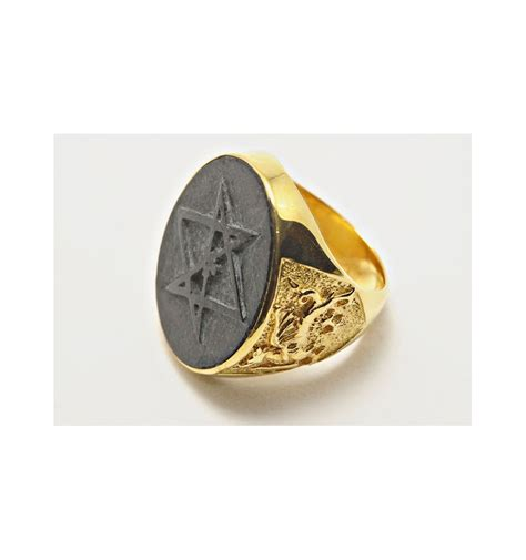 black jade esoteric engraved gold plated