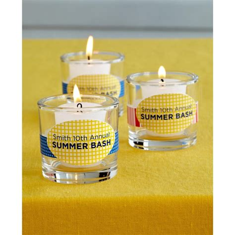 Light Up Any Summer Party With These Personalized Martha Stewart Printables On Avery 22804 Oval Votive Candle Labels Templates