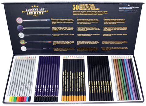 colored charcoal pencils sargent 22 7295 supreme pencil set