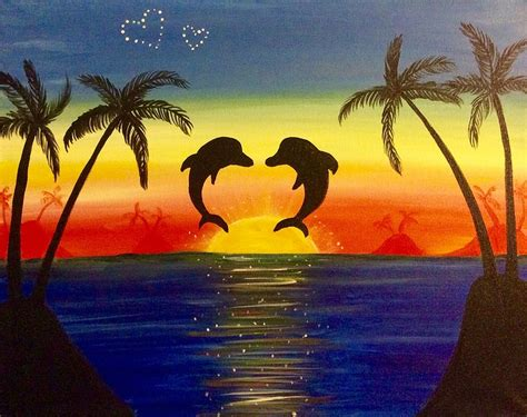 paint nite a island city paint nite dolphins in