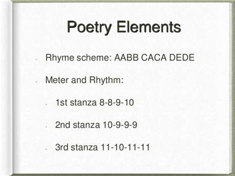 rhyme pattern in french william blake poem analysis by brennan pierce