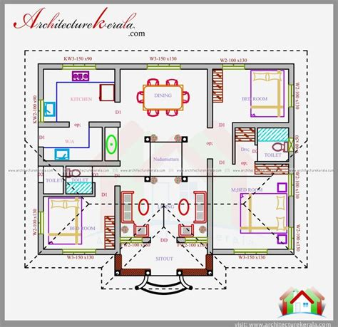 kerala three bedroom house plan best 25 indian house plans ideas on pinterest indian house plans de maison