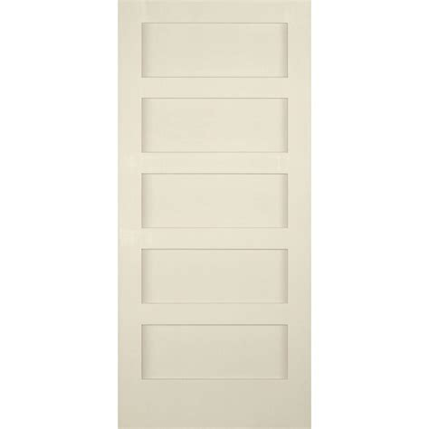 Builder S Choice 36 In X 80 In 5 Panel Shaker Solid Core 5 Panel Shaker Interior Door