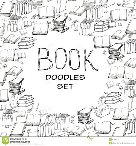 read doodle book doodle frame stock vector illustration of detective