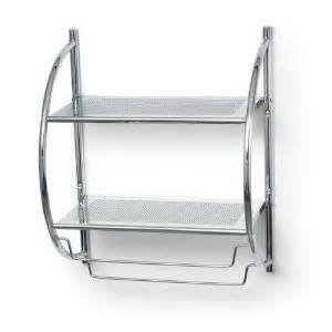 chrome bathroom shelves for towels bathroom accessories polder 90 05 bathroom shelf