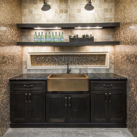 copper tile backsplash kitchen contemporary with accent copper penny rounds are a fun and glamorous option for a