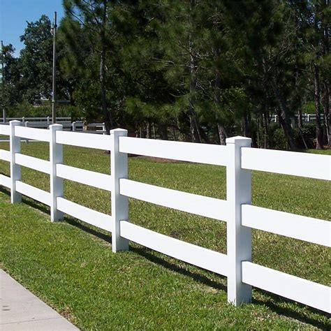 four rail vinyl fence pvc fencing low maintenance fencing global