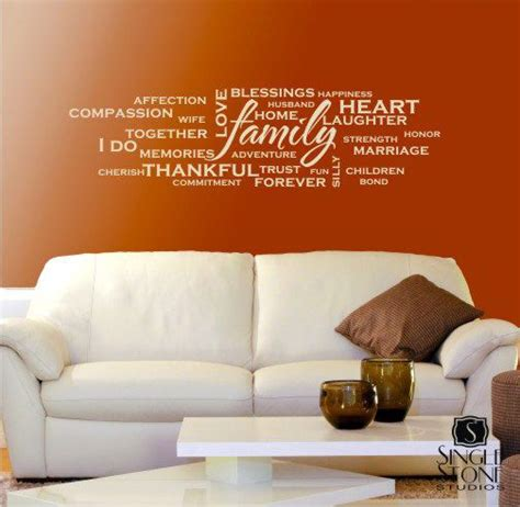 Wall Art Quote Stickers family wordle wall decals vinyl wall stickers art words