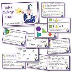 maths challenge cards year 3 pk 1
