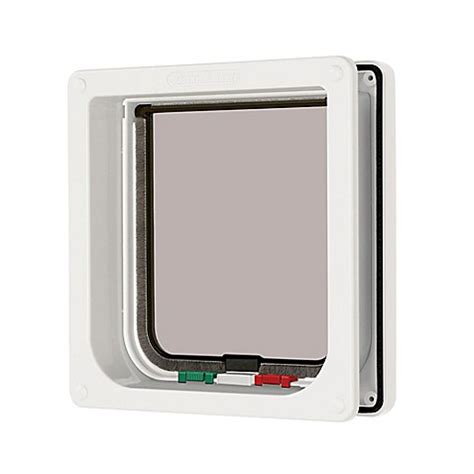 lock cat in bathroom buy 4 way locking cat flap with door liner in white from