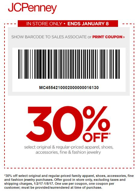 shoes coupon jcpenney coupon 30 apparel shoes more in