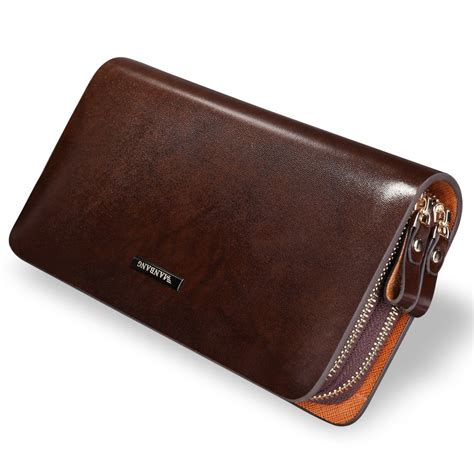 s genuine leather clutch business leather bag