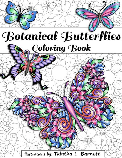 butterfly colors books botanical butterflies coloring book pdf 58 pages to p