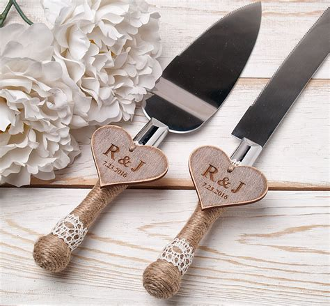 Wedding Cake Knife by Cake Serving Set Rustic Wedding Cake Cutting Set Wedding Cake