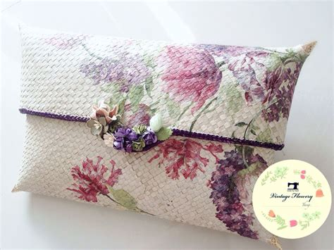 Clutch Pandan Decoupage 1 purple made clutch pandan all about decoupage