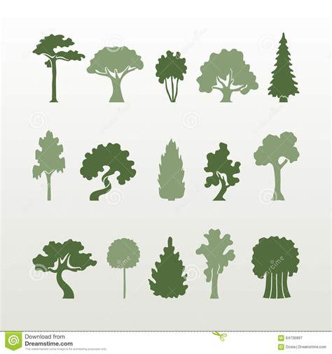 different types of trees different types of trees vector stock vector image
