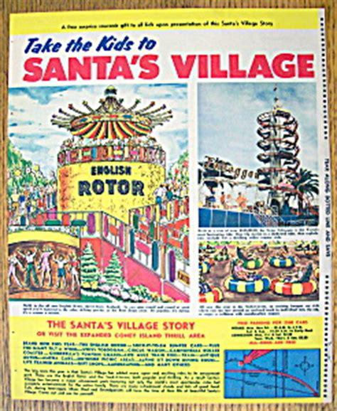 theme park advertisement vintage ad 1971 santa s village amusement park amusement