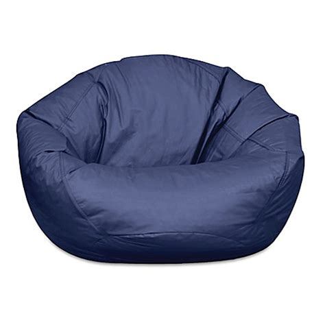 navy bean bag chair buy classic large bean bag chair in navy from bed bath