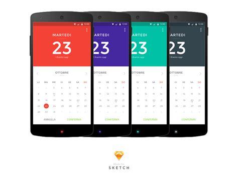 material design calendar android github multicolor material design calendar uplabs