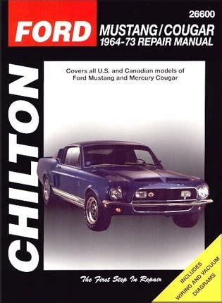 auto manual repair 1993 mercury cougar auto manual ford mustang mercury cougar repair manual 1964 1973