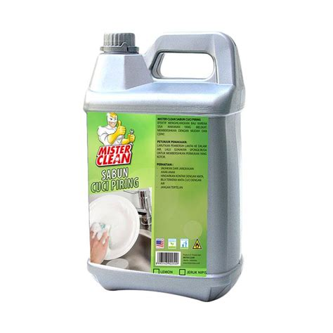 Sabun Cuci Piring Kwalitas Premium jual mister clean sabun cuci piring 5 l harga kualitas terjamin blibli